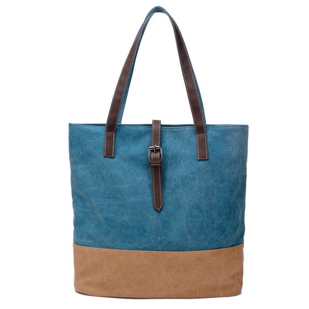 SJMMBB A Woman's Canvas Bag with A Handbag for The Old Hand,Blue,34X35X10Cm