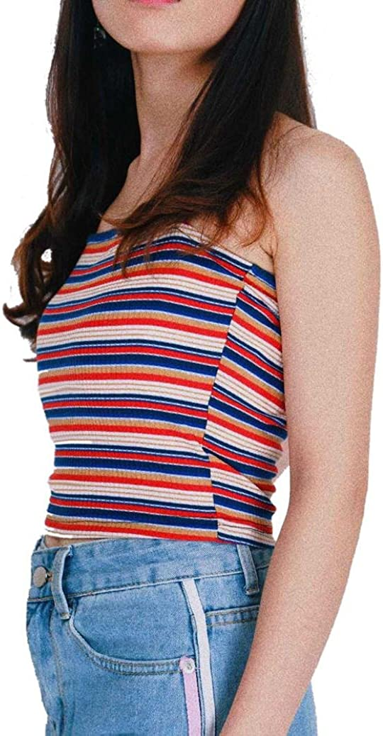 Inkach Mens Casual Slim Fit Sleeveless Casual Striped Printing Vest Tops