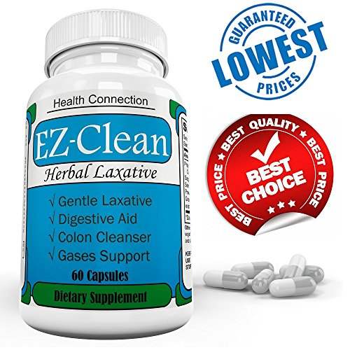 EZClean 100% Herbal Laxative Herbal Cleanse for Weight Loss, Natural Colon Detox Cleanser, Colon Cleansing Diet Supplement Blend for Digestive Health, Flush Body Toxins, Men & Women