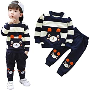 999bbf9173 Amazon.com: Infant Toddler Baby Girl Boy Fall Winter Clothes Outfit ...