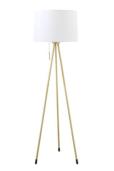 Bloomingville Ah0212 Metal Tripod Floor Lamp With Brass Finish