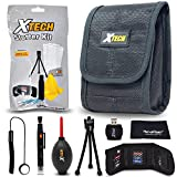 Xtech Camera Accessories Kit Bundle for Nikon Coolpix W300, W100, A300, A900, A10, A100, AW130, S33, S9900, S5700, S6900, S3700, S2900 Includes Camera Case, Memory Card Holder + More