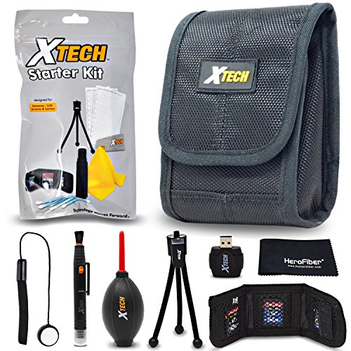 Xtech Camera Accessories Kit Bundle for Canon Powershot XS730 HS, SX620 HS, SX720 HS, SX710 HS, SX610 HS includes Camera Case, Memory Card Holder + More by HeroFiber