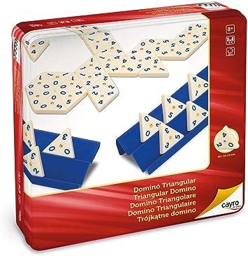 Cayro - Dominó Triangular en Caja de Metal - Juego Tradicional - Juego de Mesa - Desarrollo de Habilidades cognitivas e inteligencias múltiples - Juego de Mesa (754): Amazon.es: Juguetes y juegos