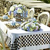 MacKenzie-Childs Brand New, 100% Authentic Courtly Check Tablecloth - Small 84'' X 60''