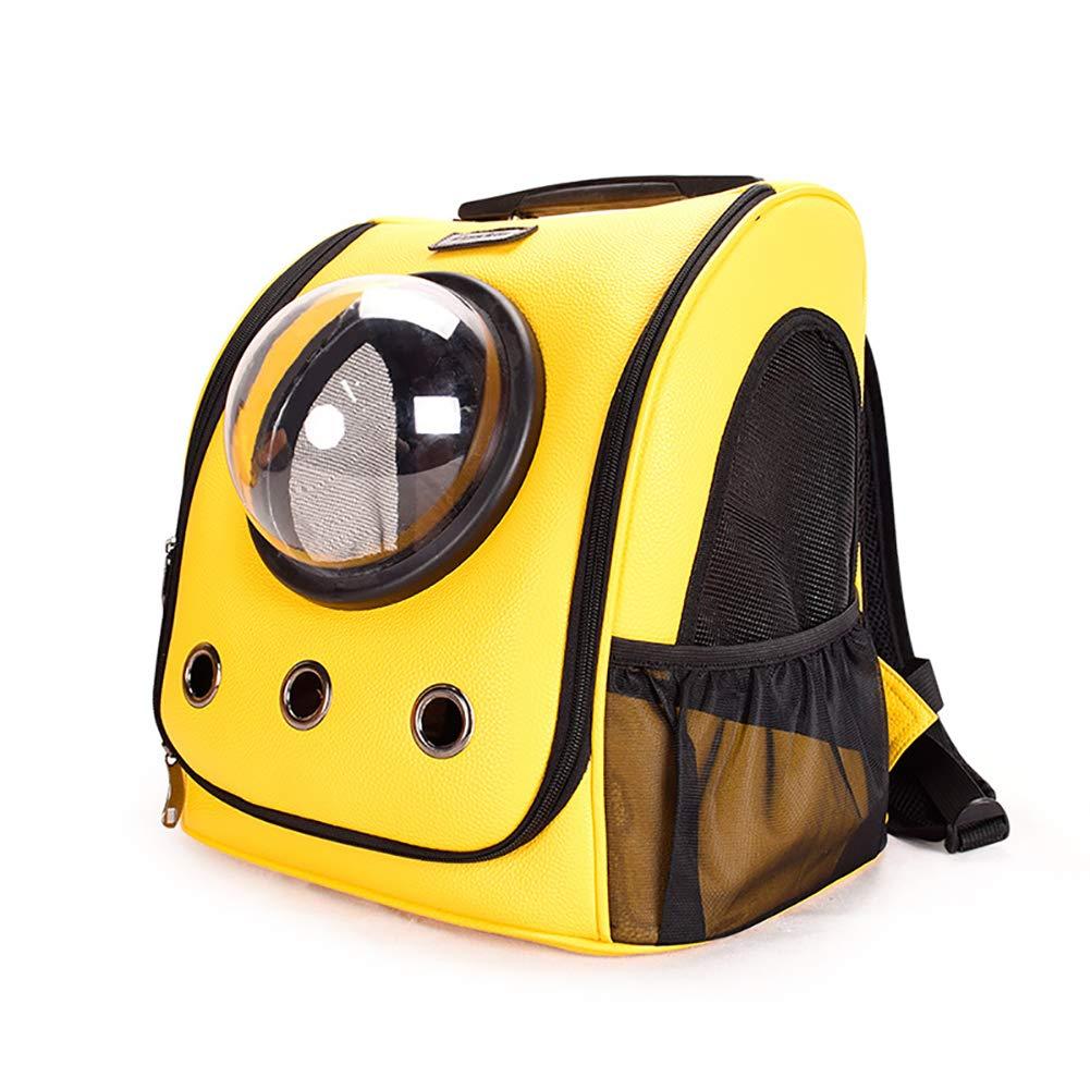 CWZJ Pet cat dog out convenient backpack space capsule PU bag ventilation cat bag pet bag