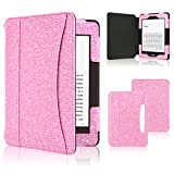 ACdream Kindle Paperwhite Case, Folio Premium Leather Ereader Cover Case with Auto Sleep/Wake for Kindle Paperwhite (Fits all 2012, 2013, 2015 and 2016 Versions), Pink Star of Paris