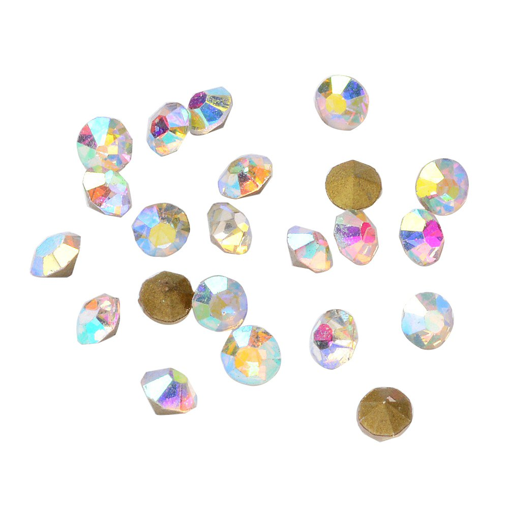 arricraft 1 Bag 2.5mm AB Color Glass Back Plated Rhinestone Faceted Diomond Shaped Rhinestone DIY Jewelry About 4401pcs//bag