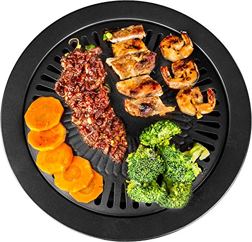 Healthy Cooking Style Stove Top Barbecue Grill - Nonstick BBQ Stovetop (13 Inches) (Stove Grill)