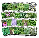 Sow Right Seeds - Complete Herb Garden Seed Collection for Planting - Variety Pack of Non-GMO Heirloom Seeds - 25 Individual Herbs to Plant Indoor or Outdoor; Great Gardening Gift.