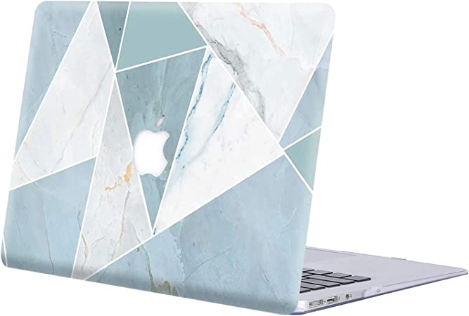Azul 2 Lamina Protectora MacBook Air 13.3 Ultra Delgado Pl/ástico {A1932} 2019//2018, Touch ID w//EU Cubierta Teclado KECC MacBook Air 13 Retina