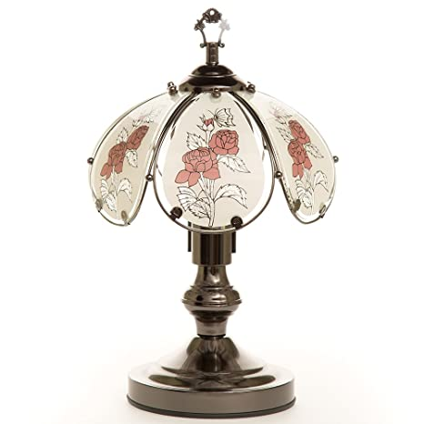 Ok Lighting Ok 603c 4r 14 25 Inch Touch Lamp With Rose Theme