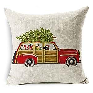 Amazon Com Dachshund Christmas Cushion Cover Dog