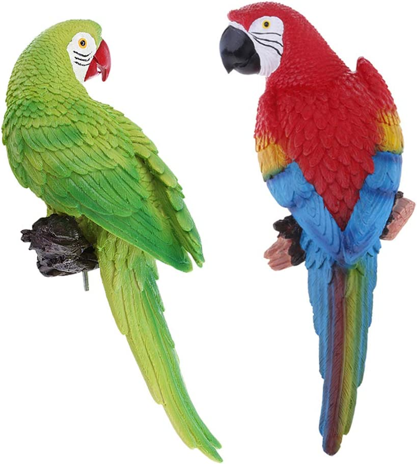 Amazon.es: Sharplace 2PCS Figura Realista De Loros Animales para ...