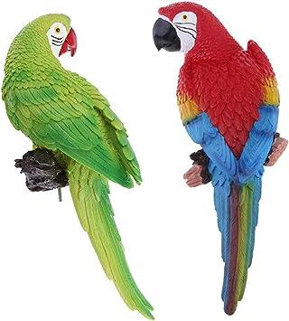 Amazon.es: Sharplace 2PCS Figura Realista De Loros Animales para Decoraciones De Jardines De Jardín Casero: Juguetes y juegos