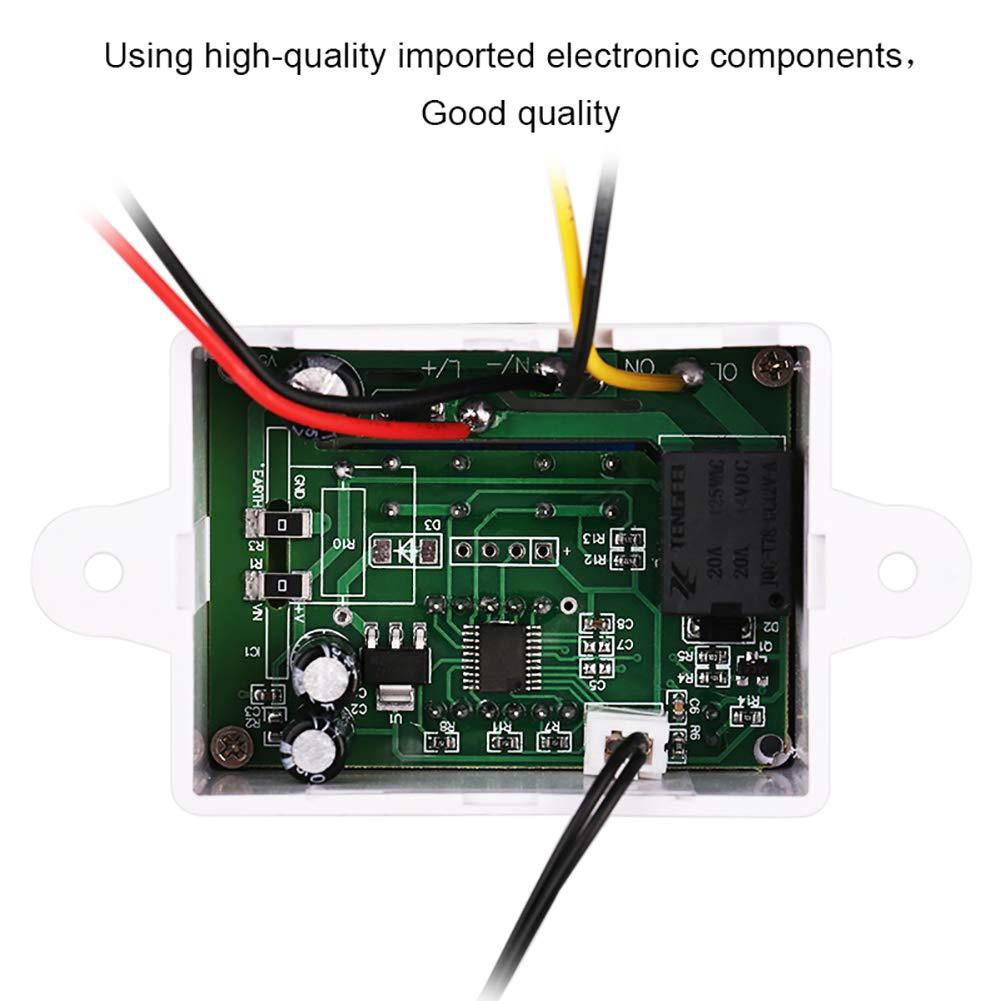 220V 10A R/égulateur de temp/érature num/érique LED avec sonde 12v AimdonR 12//24
