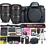 Canon EOS 6D Mark II 26.2 MP DSLR Camera (Wi-Fi) PROFESSIONAL PHOTOGRAPHER Multi-Lens Kit with EF 16-35mm f/2.8L III USM Lens, EF 24-105mm f/4L IS II USM Lens & Premium Camera Works Accessory Bundle