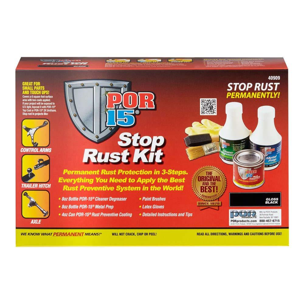 POR-15 40909 Stop Rust Kit, Permanent Corrosion Preventive System, Gloss Black