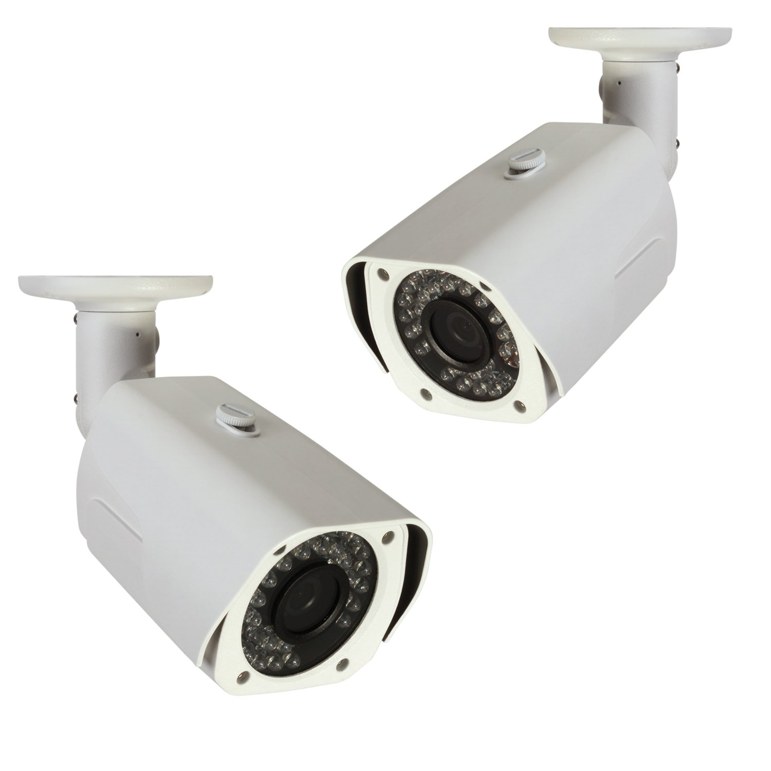 Q-See QCA7201B-4 720p High Definition Analog, Metal Housing, Bullet Security Camera 4-Pack White