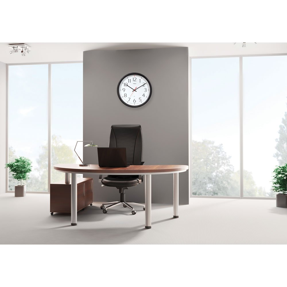 Timex 46004T Set and Forget Wall Clock 14-Inch Chaney Instruments 46004TA1