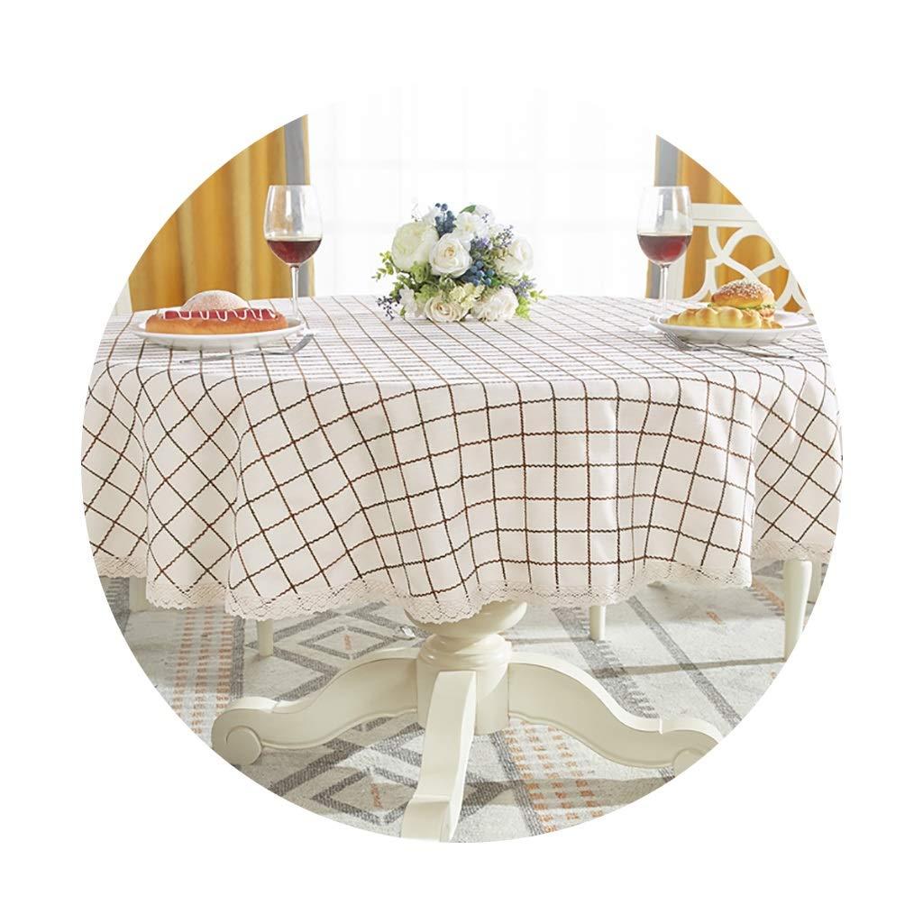 YTJ-JP 円形のテーブルクロス家庭用レストランに適した厚いヨーロッパの円形のコーヒーテーブルクロス (Color : A, Size : 200cm) 200cm A B07SRZD3V1