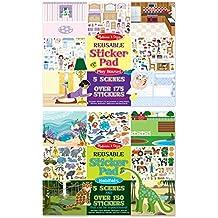Melissa & Doug Reusable Sticker Pads Set: Play House and Habitats - 325 Stickers