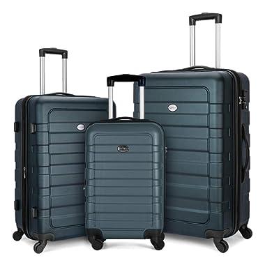 FOCHIER 3 Piece Luggage Sets Hardshell Expandable Suitcase with TSA Lock
