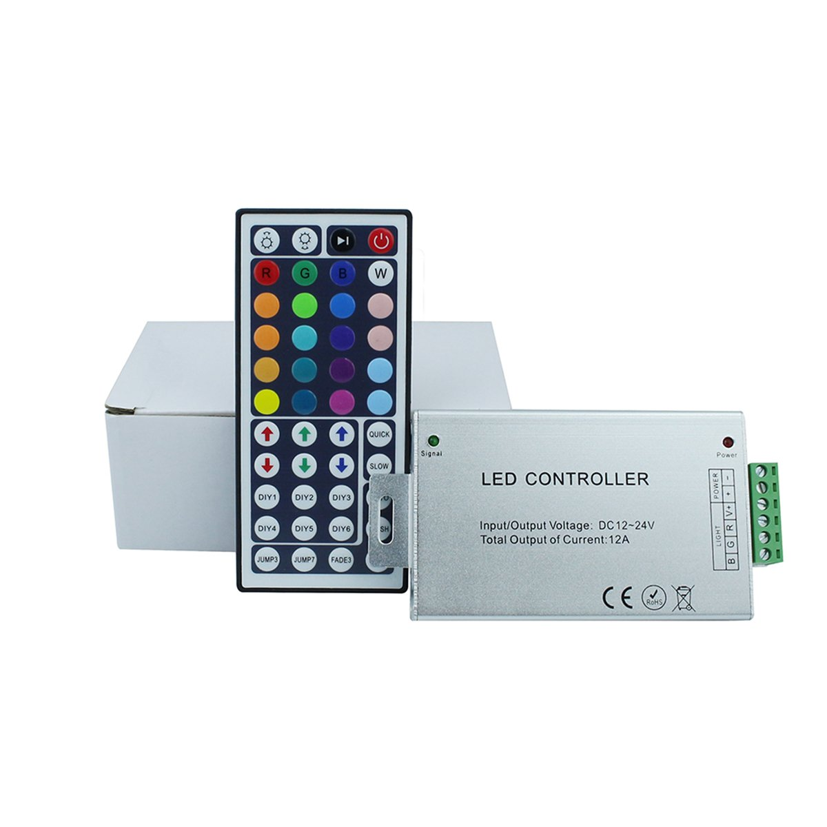 KPBOTL DC12-24V 12A RGB led controller, IR controller with 44 Key Remote control,Aluminum light controller for 3528 5050 RGB led strips by KPBOTL (Image #7)