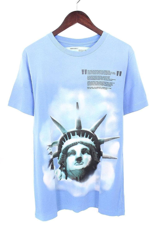 (オフホワイト) OFF-WHITE 【18AW】【LIGHT BLUE LIBERTY S/S T-SHIRT】リバティープリントTシャツ(S/ブルー) B07FQ5Y3C1
