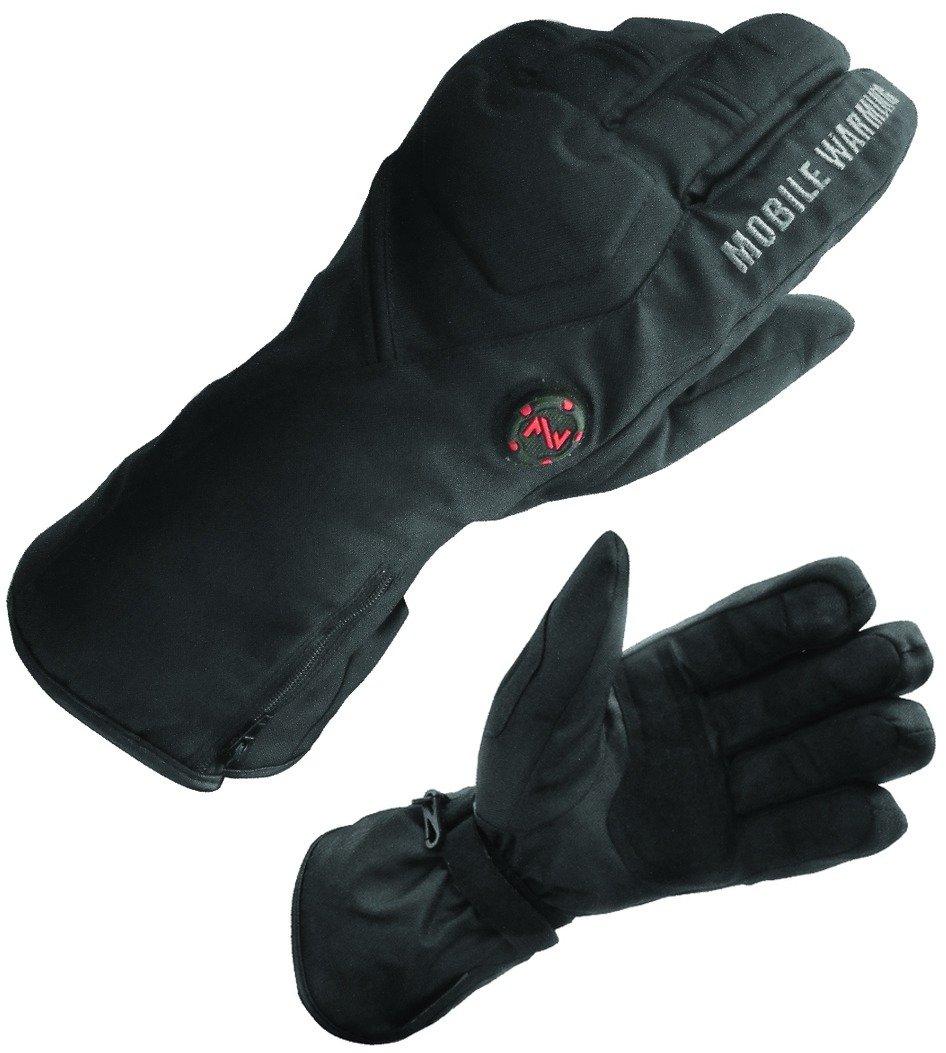Mobile Warming Unisex-Adult Geneva Textile Gloves (Black, Large)