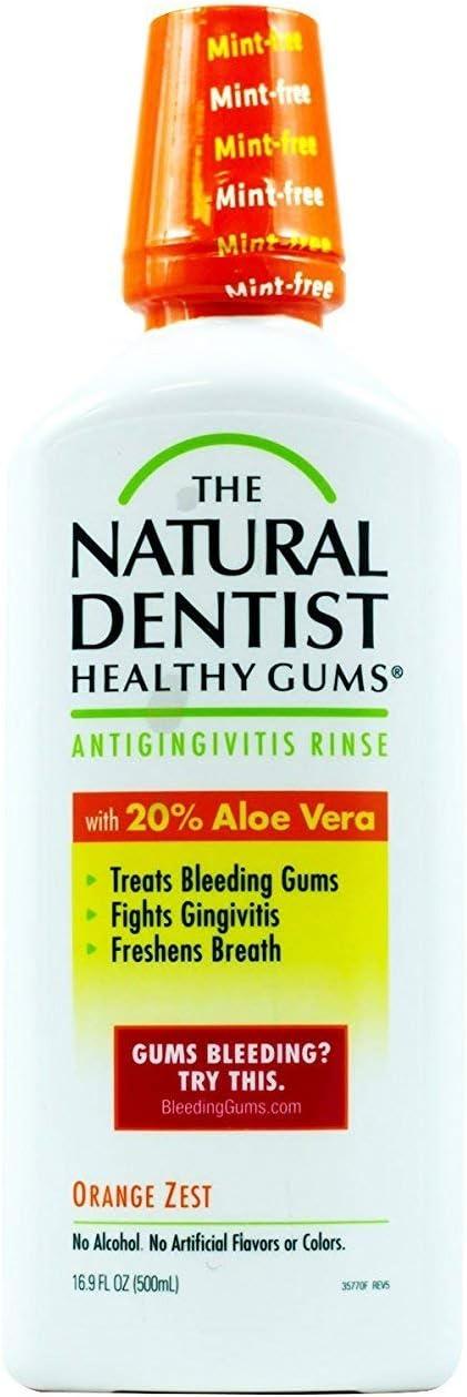 Healthy Gums Mouth Rinse Orange Zest 16 oz, (Pack of 4)