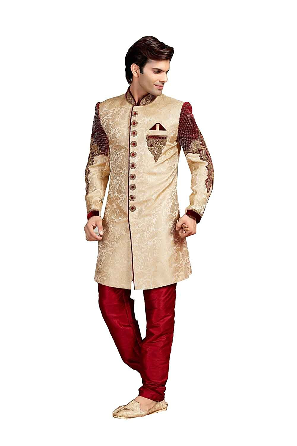 Amazon Com Beautiful Indian Wedding Sherwani Set For Groom