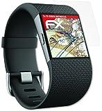 Fitbit Surge Panzerfolie - 3 x atFoliX FX-Shock-Antireflex blendfreie stoßabsorbierende Panzerschutzfolie Displayschutzfolie