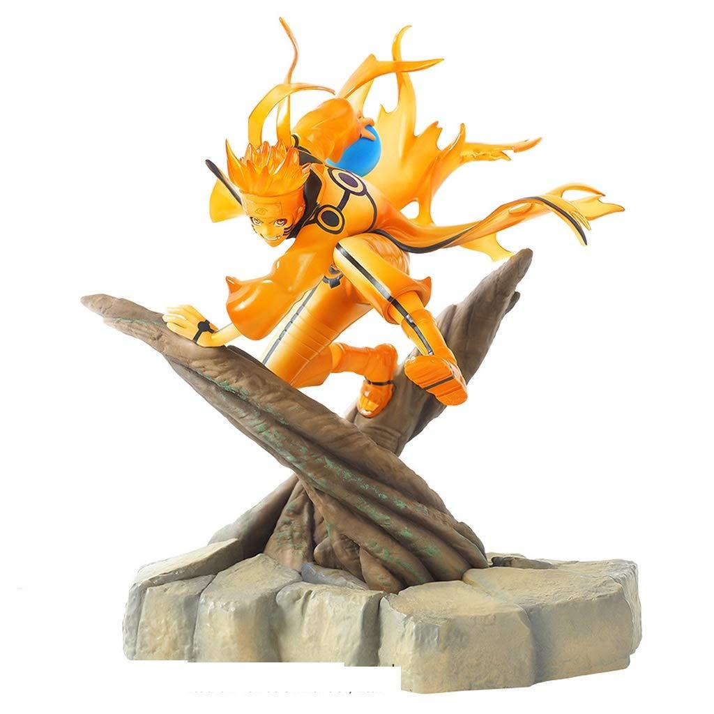 YIFNJCG Naruto Caractè re Jouet -25CM en Bois De Modè le Shippuden Anime Pile/Cadeau/Souvenir/Collection/Artisanat/Cadeaux