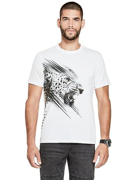 53462b4adba7 Amazon.com: G by GUESS Men's Dawson Leopard Graphic Tee: Clothing