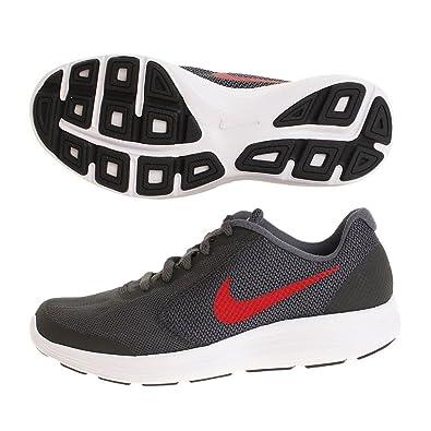 e555b82ed9658 Nike Unisex-Kinder Revolution 3 (GS) Laufschuhe Schwarz (Black University  Red