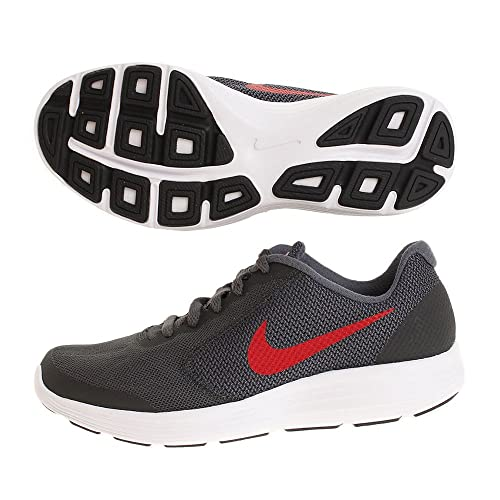 6dc1a26f5391 Nike Revolution 3 GS Running Shoes - Black University Red  Amazon.co ...