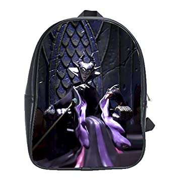 Maleficent The Sleeping Beauty The Villains Disney Leather Backpack School Laptop Book Travel Bag Personalised
