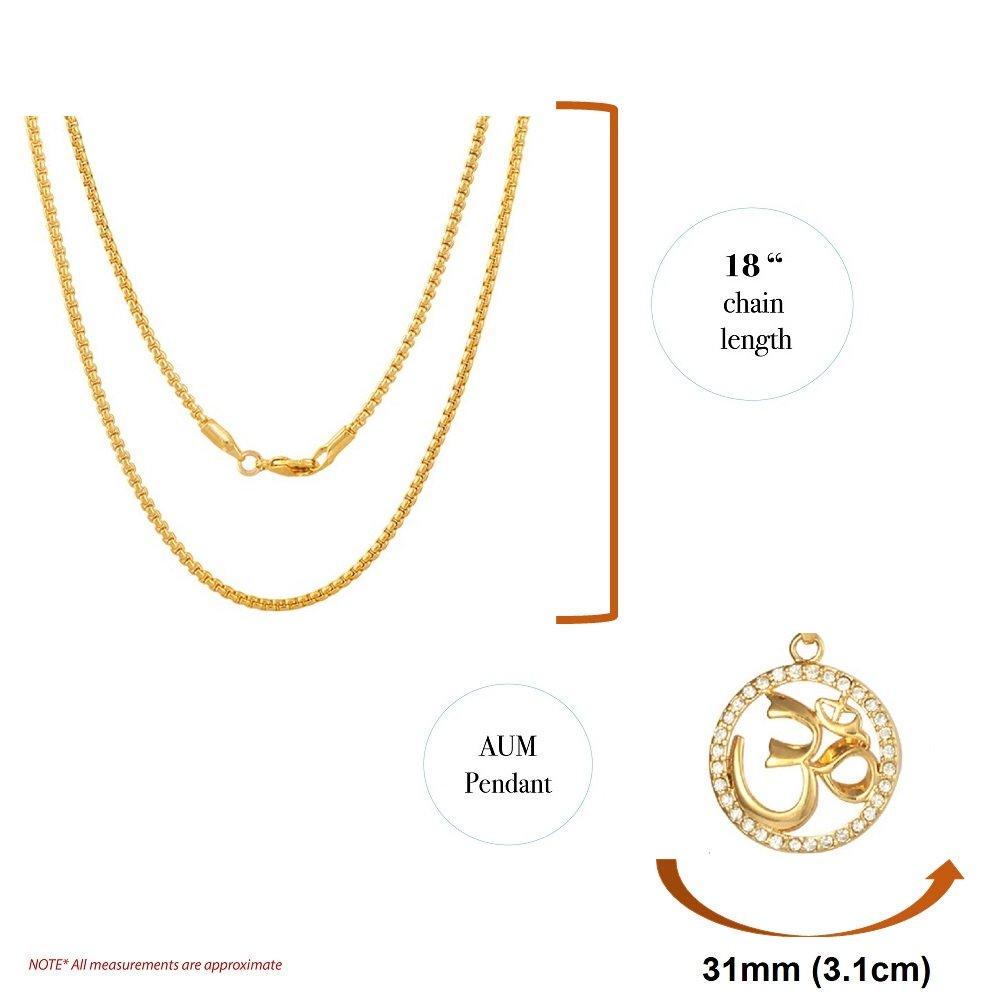 Amazon.com: Mirabella - Collar chapado en oro de 18 quilates ...