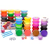 TBC The Best Crafts Model Magic Clay, 24 Colors Air Dry Clay,Ultra Light,Smooth,Non-Toxic, Creative Sensory Toys,Art & Crafts