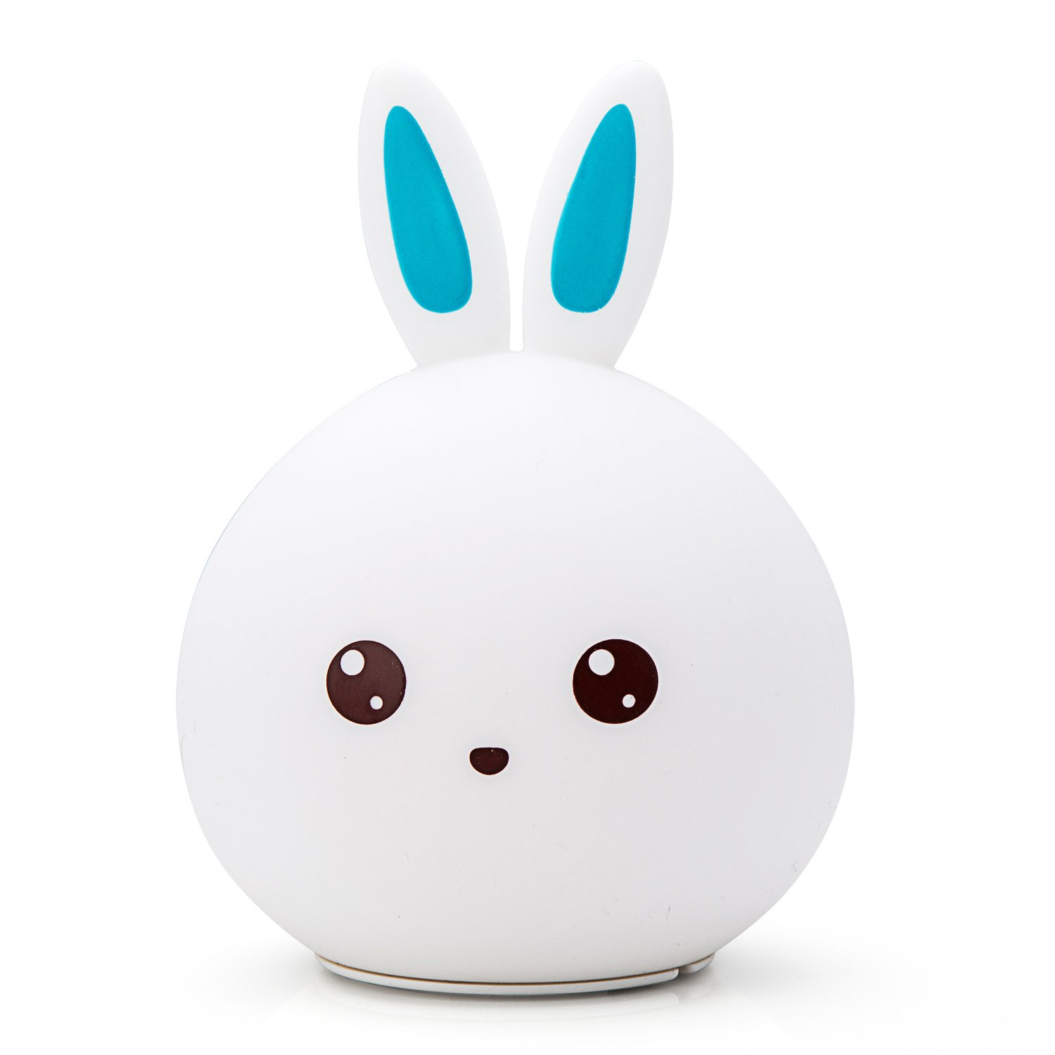 Goline Baby Night Light, Cute Bunny Led Night Light for Kids, Multicor Rabbit Nursery Lamp, Soft Silicone Night Light, Tap Night Lamp, Toddler Toys for Boys Age 3, Gifts for 7 Year Old Boy.(NL011-BE)