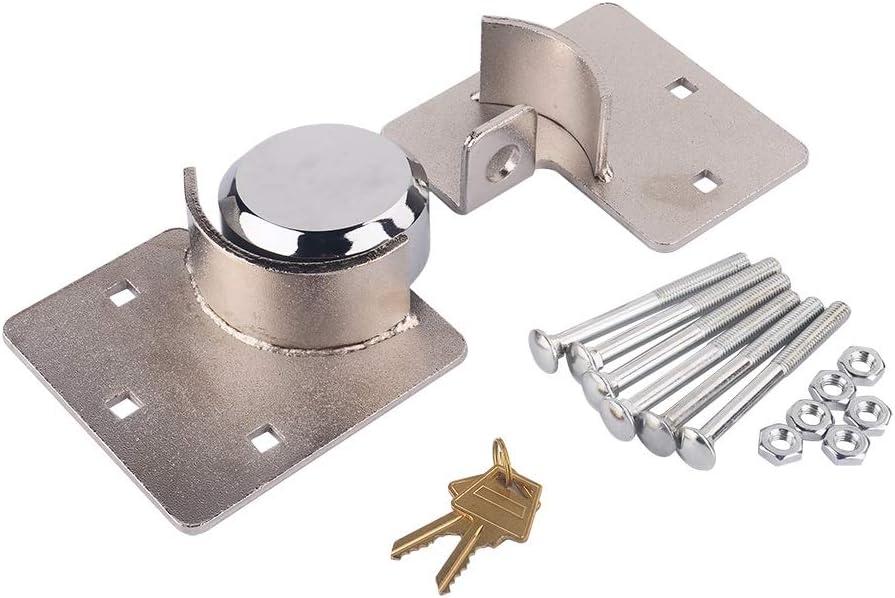 KSTE Door Security Padlock 73 mm Round Shackle-Less Padlock,Hasp Solution Pack Heavy Duty 1//2 X Van Garage Shed Door Security Padlock Hasp Set Lock 73mm Steel