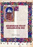 Memoriam Fecit Mirabilium Dei : Scritti in Onore Di Emanuele Boaga, O.Carm, Grosso, Giovanni and Santin, Wilmar, 8872881072