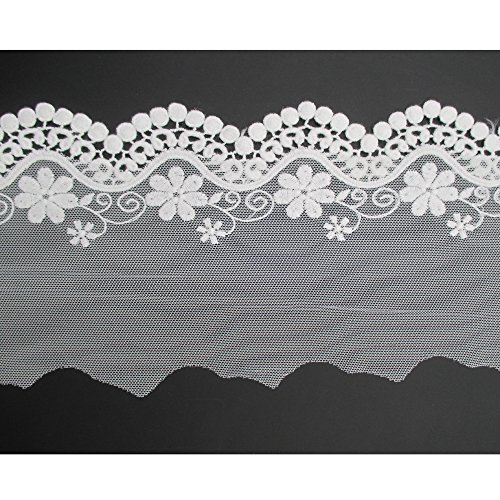 5 Yards Crochet Cotton Scallop Embroidered Edging Lace Tr...