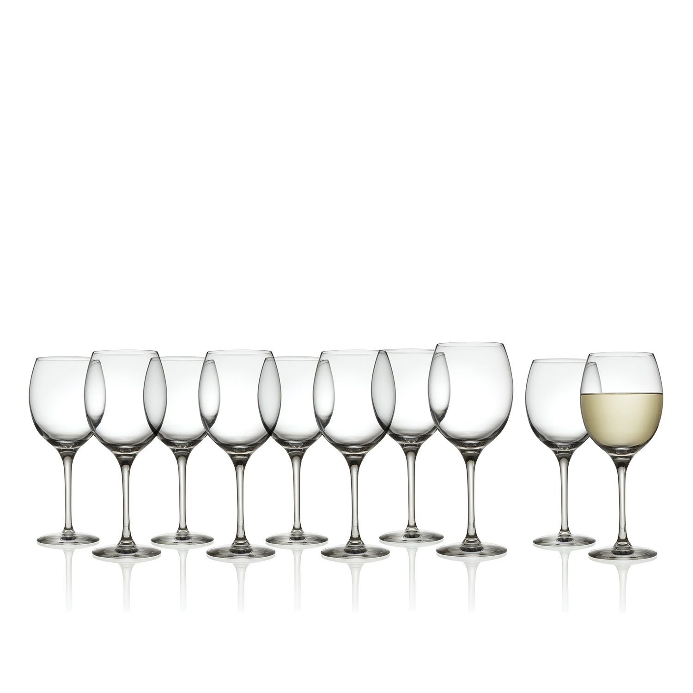 Alessi Mami - Glassware - White Wine Glasses - XL - Set of 10-47cl/16 fl oz Capacity
