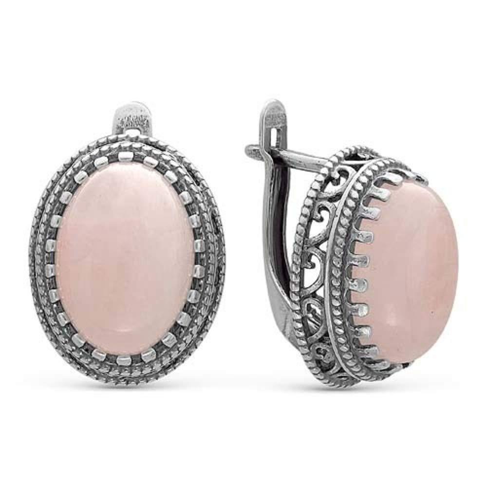 MIRKADA Boucles d'oreilles pendantes en argent 925 avec quartz antique pour femme