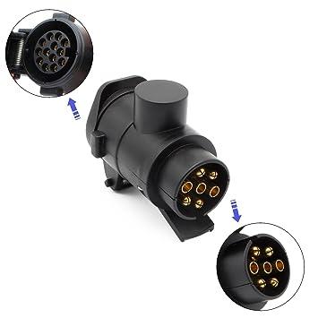 Adapter 12V 7 auf 13 polig Stecker Anhänger AHK PKW Anhänger Adapter ...