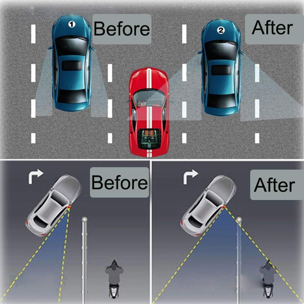 in vetro HD regolabile 4 specchietti retrovisori per punto cieco impermeabili per auto universali girevoli a 360/°