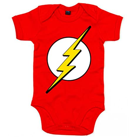 Body bebé The Flash - Rojo, 6-12 meses