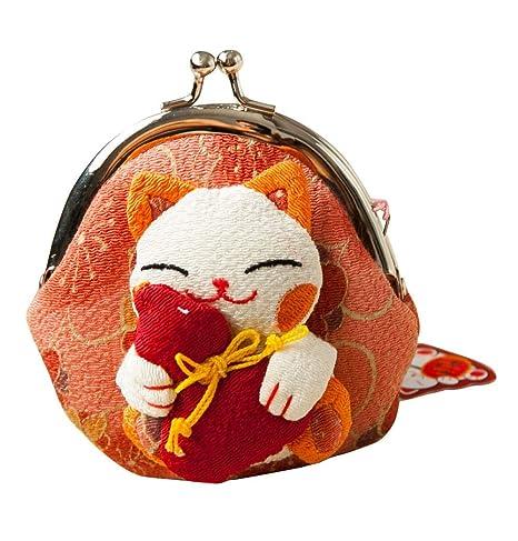 Monedero Estilo japonés, diseño de Gato de la Suerte, 8 ...